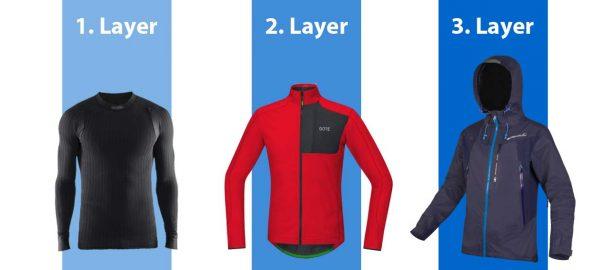 Richtig Kleiden beim Fahrradfahren im Winter - das 3-Lagen Prinzip