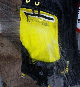 Dusche für den Rucksack