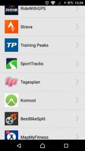 Wahoo Elemnt - Apps verbinden