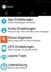 Mehr Einstellungen der App