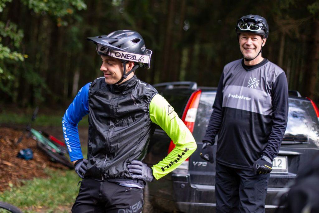 Chris' Leidenschaft ist das Mountainbiken - das ist ihm sicher anzusehen